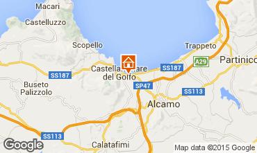 Kaart Castellammare del Golfo Appartement 33477