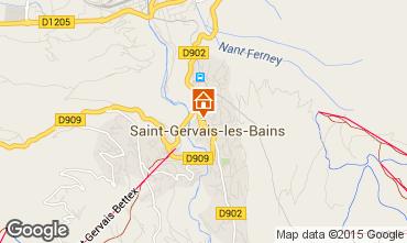 Kaart Saint Gervais Mont-Blanc Chalet 36087