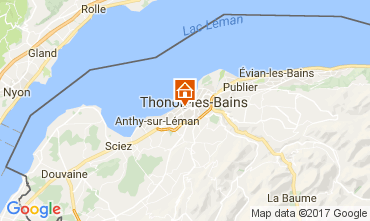 Kaart Thonon Les Bains Studio 108306