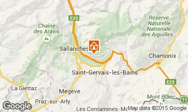 Kaart Chamonix Mont-Blanc Chalet 649