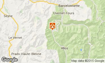 Kaart Val d'Allos Studio 3194