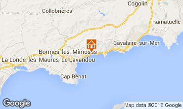 Kaart Le Lavandou Appartement 94286