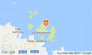 Kaart La Maddalena Villa 98901