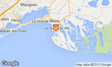 Kaart Port Camargue Appartement 6008