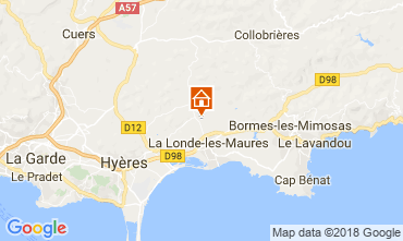 Kaart La Londe les Maures Vakantiehuis 114425