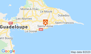 Kaart Sainte Anne(Guadeloupe) Bungalow 70986