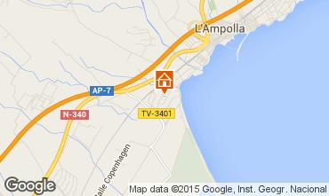 Kaart L'Ampolla Villa 59145