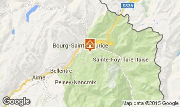 Kaart Les Arcs Chalet 322