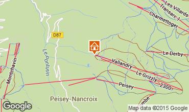 Kaart Peisey-Vallandry Appartement 90871