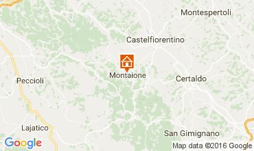 Kaart Gambassi Terme Villa 107501