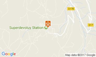 Kaart Superdévoluy- La Joue du Loup Appartement 112256