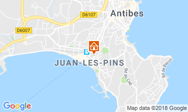 Kaart Juan les Pins Appartement 80674