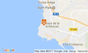 Kaart Playa de las Américas Appartement 108562