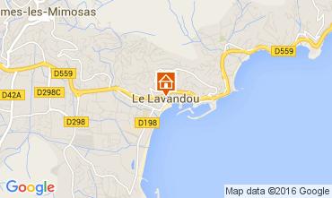 Kaart Le Lavandou Studio 8589