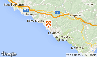 Kaart Bonassola Appartement 51375