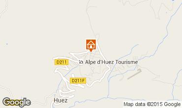 Kaart Alpe d'Huez Studio 93526