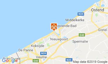 Kaart Nieuwpoort Vakantiehuis 117689
