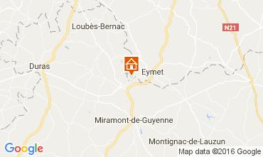 Kaart Bergerac Vakantiehuis 36896