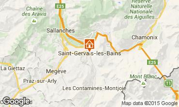 Kaart Saint Gervais Mont-Blanc Appartement 2561