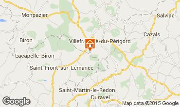 Kaart Villefranche du Périgord Vakantiehuis 51192