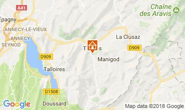 Kaart La Clusaz Vakantiehuis 112920