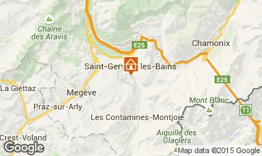 Kaart Saint-Gervais-les-Bains Appartement 2555