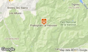 Kaart Pralognan la Vanoise Appartement 2287