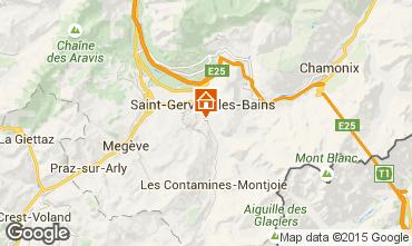 Kaart Saint Gervais Mont-Blanc Appartement 58539