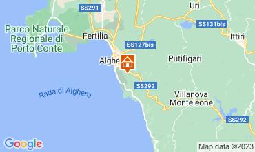 Kaart Alghero Appartement 67969