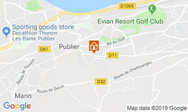 Kaart Evian les Bains Appartement 106719