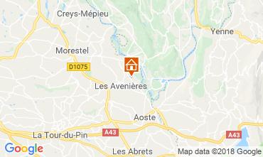 Kaart Les Avenières Veyrins-Thuellin Huis 116733