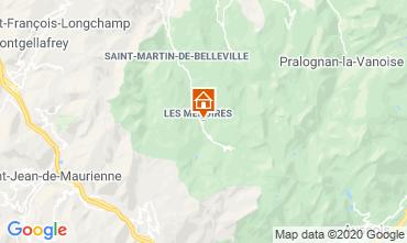 Kaart Les Menuires Appartement 1629