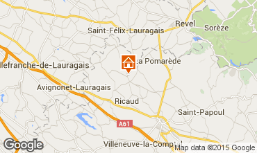 Kaart Carcassonne Vakantiehuis 84754