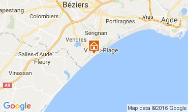 Kaart Valras-Plage (strand) Appartement 106263