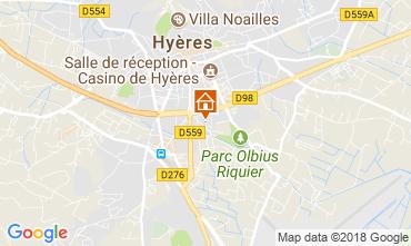 Kaart Hyères Studio 109105