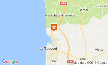 Kaart Le Touquet Stacaravan 108559