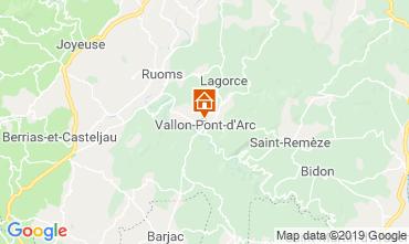 Kaart Vallon-Pont-D'Arc Appartement 32319