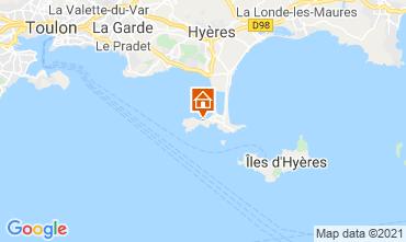 Kaart Hyères Vakantiehuis 81394