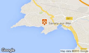 Kaart Sanary Appartement 63327