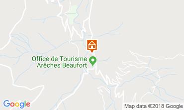 Kaart Areches Beaufort Appartement 116506