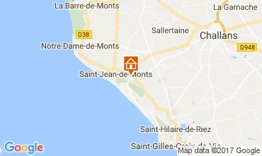 Kaart Saint Jean de Monts Stacaravan 112545