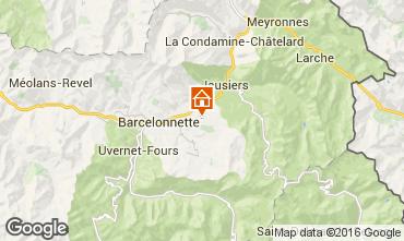 Kaart Barcelonnette Chalet 102916