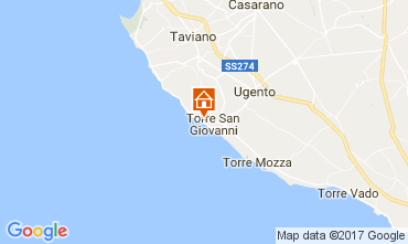 Kaart Ugento - Torre San Giovanni Appartement 108186