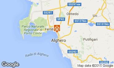 Kaart Alghero Appartement 58012