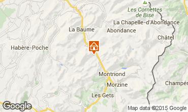 Kaart Saint Jean d'Aulps- La Grande Terche Appartement 42356
