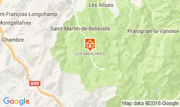 Kaart Les Menuires Chalet 60440