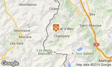 Kaart Les Crosets Chalet 102431