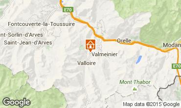 Kaart Valloire Chalet 3392