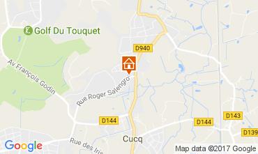 Kaart Le Touquet Huis 84445