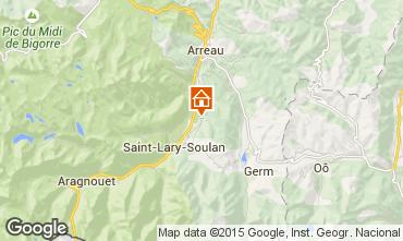 Kaart Saint Lary Soulan Vakantiehuis 65220
